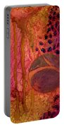 Abstract In Gold And Plum Portable Battery Charger