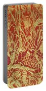 Abstract In Gold Portable Battery Charger