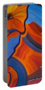 Abstract In Orange And Blue Portable Battery Charger