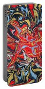 Abstract In Red Portable Battery Charger