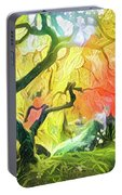 Abstract Japanese Maple Tree 5 Portable Battery Charger