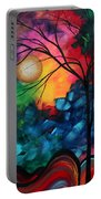 Abstract Landscape Bold Colorful Painting Portable Battery Charger by Megan Duncanson