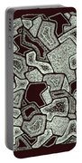 Abstract Landscape - Hand Drawn Pattern Portable Battery Charger