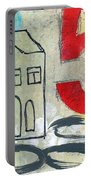 Abstract Landscape Portable Battery Charger by Linda Woods