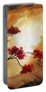 Abstract Landscape Painting Empty Nest 12 By Madart Portable Battery Charger by Megan Duncanson