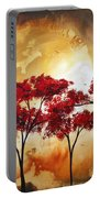 Abstract Landscape Painting Empty Nest 2 By Madart Portable Battery Charger by Megan Duncanson
