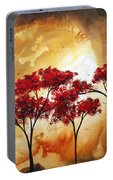 Abstract Landscape Painting Empty Nest 2 By Madart Portable Battery Charger