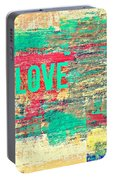 Abstract Love V2 Portable Battery Charger