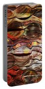 Abstract Magnified Lines Portable Battery Charger