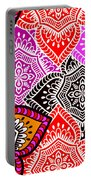 Abstract Mandala Floral Design Portable Battery Charger