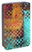 Abstract Modern Art - Pieces 1 - Sharon Cummings Portable Battery Charger