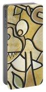 Funky Monkey - Zeeko Abstract Monkey Portable Battery Charger