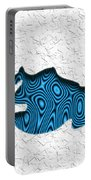Abstract Monster Cut-out Series - Blue Swimmer Portable Battery Charger