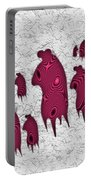 Abstract Monster Cut-out Series - Red Rally Portable Battery Charger