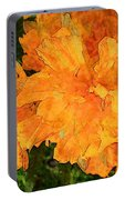 Abstract Motif By Yellow Daffodils Portable Battery Charger