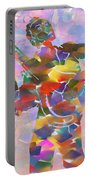 Abstract Musican Guitarist Portable Battery Charger
