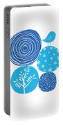 Abstract Nature Blue Portable Battery Charger