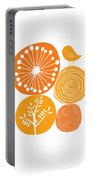 Abstract Nature Orange Portable Battery Charger
