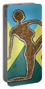 Abstract Nude Ebony In Heels Portable Battery Charger