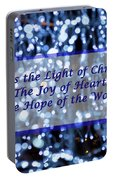 Abstract Of Blue Lights Text Portable Battery Charger