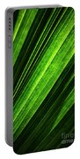 Abstract Of Green Leaf Of Exotic Palm Tree Portable Battery Charger