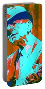Abstract Of Leonard Cohen Portable Battery Charger
