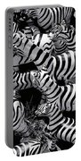 Abstract Of Zebras Statue In Various Sizes  Portable Battery Charger