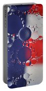 Abstract Oil And Water Usa 2 Portable Battery Charger