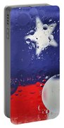 Abstract Stars And Stripes Portable Battery Charger