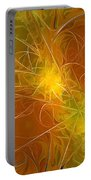 Abstract Orange Portable Battery Charger