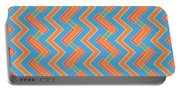 Abstract Orange, Red And Cyan Pattern For Home Decoration Portable Battery Charger