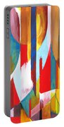 Abstract Painting Portable Battery Charger