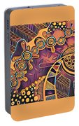 Abstract Pattern With Purple Portable Battery Charger