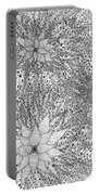 Abstract Pen And Ink Design In Black And White Portable Battery Charger