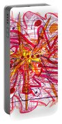 Abstract Pen Drawing Fifteen Portable Battery Charger