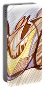 Abstract Pen Drawing Nine Portable Battery Charger