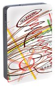 Abstract Pen Drawing Seven Portable Battery Charger