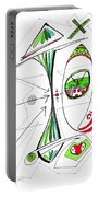 Abstract Pen Drawing Seventy-six Portable Battery Charger