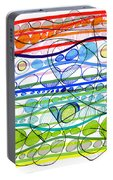 Abstract Pen Drawing Sixteen Portable Battery Charger