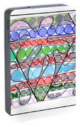 Abstract Pen Drawing Thirteen Portable Battery Charger