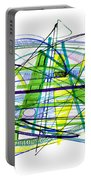 Abstract Pen Drawing Thirty Portable Battery Charger