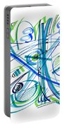 Abstract Pen Drawing Thirty-three Portable Battery Charger