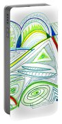 Abstract Pen Drawing Thirty-two Portable Battery Charger