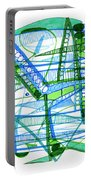 Abstract Pen Drawing Twenty-eight Portable Battery Charger