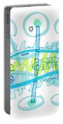 Abstract Pen Drawing Twenty-five Portable Battery Charger