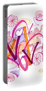 Abstract Pen Drawing Twenty-six Portable Battery Charger