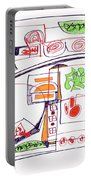 Abstract Pen Drawing Twenty-three Portable Battery Charger
