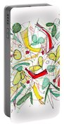 Abstract Pen Drawing Twenty-two Portable Battery Charger