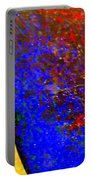 Abstract Photo Blue Yellow Portable Battery Charger