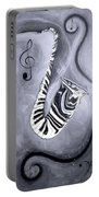 Piano Keys In A Saxophone 5 - Music In Motion Portable Battery Charger